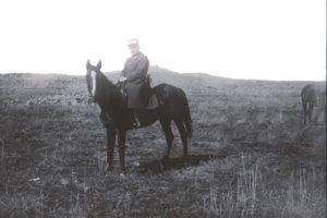 Alfred Charbonnier dans le Djebel Druze