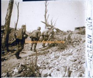 Brancardiers français et allemands - Verdun 1917