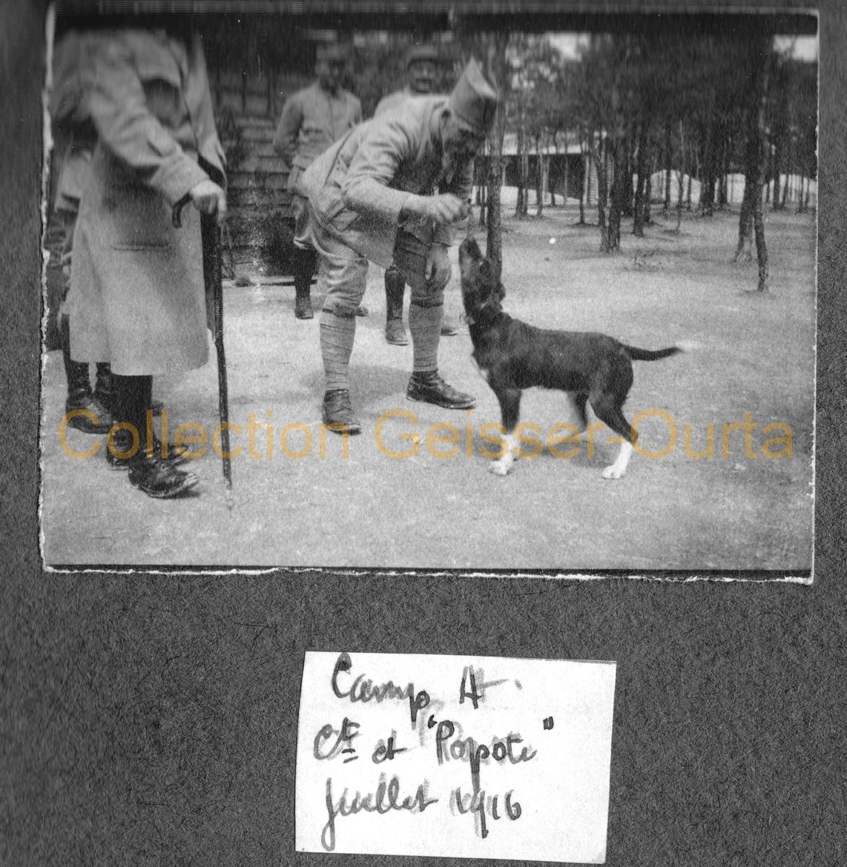 """Le commandant et le chien """"Popote"""""""