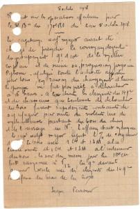 Rapport Perrossier octobre 1918