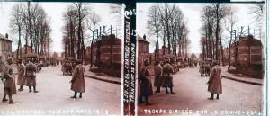 Troupe dirigée vers la Somme