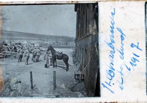 Lieutenant Charbonnier et son cheval