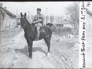 Souvenir de sa jument tuée en juin 1918