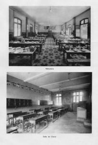 Réfectoire et salle de classe