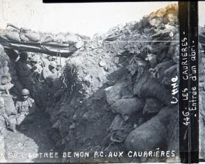 Les Caurières PC Compagnie de mitrailleuses du Lieutenant Charbonnier