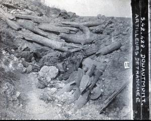 Douaumont artillerie de tranchée