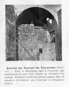 Entrée tunnel de Tavannes