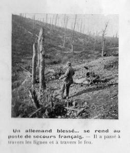 Un allemand blessé