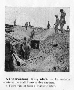 Construction d'un abri