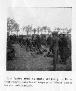 Halte des soldats anglais