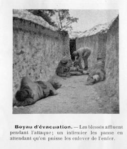 Boyau d'évacuation