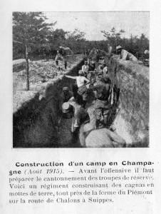 Construction d'un camp