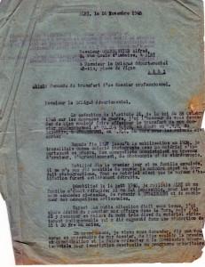 Demande au MRU 1948