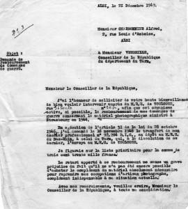 Lettre au Conseiller 1949