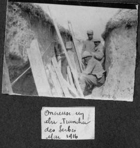 Tranchée des Serbes mai 16