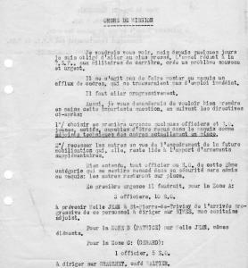 Ordre de Mission du Colonel Durenque à Raoul Ourta (juillet 1944)