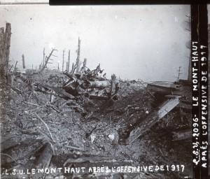 Mont Haut après l'offensive de 1917