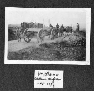 Haute Allaines artillerie anglaise