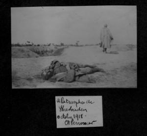 A la tranchée Wiesbaden octobre 1918